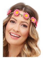 Pack of 3 Hawaiian/Hippie Daisy Chain Headbands